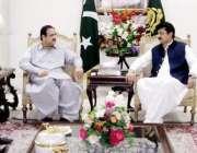 لاہور: وزیر اعلیٰ پنجاب سردار عثمان بزدار سے تحریک انصاف کے نو منتخب ..