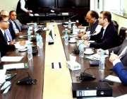 اسلام آباد: وفاقی وزیر قانون سید علی ظفر ایک اجلاس کی صدارت کر رہے ہیں۔