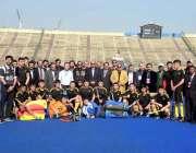 لاہور: صوبائی وزیر قانون راجہ بشارت کا نیشنل ہاکی سٹیڈیم میں ازبکستان ..