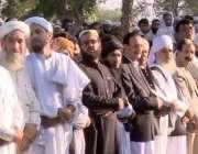 اکوڑہ خٹک: مولانا سمیع الحق کی نماز جنازہ میں راجہ ظفرالحق، چوہدری ..