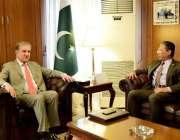 اسلام آباد: وزیر خارجہ مخدوم شاہ محمود قریشی سے ملائشیا کے ہائی کمشنر ..