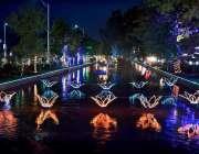فیصل آباد: جشن بہاراں کے موقع پر نہر کو خوبصورت لائٹوں سے سجایا گیا ..