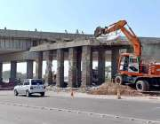 راولپنڈی: پرانے کھنہ پل انٹر چینج کو ہیوی مشینری کے ذریعے مسمار کیا ..