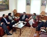 اسلام آباد: وفاقی وزیر برائے کامرس اینڈ ٹیکسٹائل سے ایچ ای کامیلا صدیقی ..