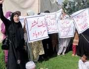 اسلام آباد: کسان ایکشن کمیٹی موہریاں و طمہ کے رہائشی اپنے مطالبات کے ..