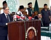 پشاور: چیف جسٹس آف پاکستان جسٹس ثاقب نثار ججز اور ممبران بار کونسل سے ..