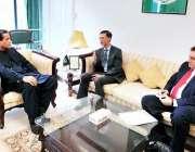 اسلام آباد: وزیر اعظم کے مشیر برائے موسمیاتی تبدیلی ملک امین سے چینی ..