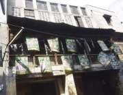 لاہور: اندرون شہر میں خستہ حال عمارت متعلقہ انتظامیہ کی توجہ کی منتظر ..
