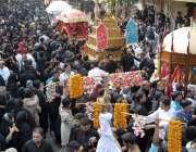 لاہور: 9ویں محرم الحرام پر پانڈوسٹریٹ اسلام پورہ سے برآمد ہونیوالا ..