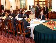 کراچی: نگران وزیراعظم جسٹس (ر) ناصر الملک گورنر ہاؤس میں اعلیٰ سطحی ..