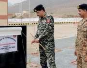 ڈیرہ اسماعیل خان: انسپکٹر جنرل فرنٹیئر کور ساؤتھ میجر جنرل عابد لطیف ..