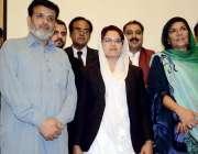 اٹک: صحافیوں اور وکلاء کا ممبر بورڈ آف گورنرنمل کالج محترمہ علیمہ خان ..