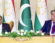 دوشنبے: صدر مملکت ممنون حسین اور تاجکستان کے صدر امام علی مشترکہ پریس ..