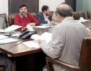 لاہور: سیکرٹری سپیشلائزڈ ہیلتھ ثاقب ظفر پنجاب ہیلتھ کیئر کمیشن کے اجلاس ..
