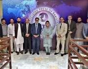 اسلام آباد: وزیر مملکت اطلاعات و نشریات مریم اونگزیب کا اے پی پی ہیڈ ..