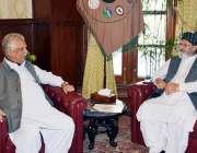 پشاور: گورنر خیبر پختونخوا انجینئر اقبال ظفر جھگڑا سے پشاور بیسڈ افغان ..