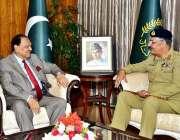 اسلام آباد: صدر مملکت ممنون حسین سے چیئرمین جائنٹ چیفس آف سٹاف کمیٹی ..