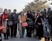 اسلام آباد: رکن صوبائی اسمبلی لبنیٰ ریحان پیرزادہ ،ثریا نسیم اور دیگر ..