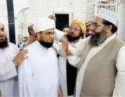 کراچی: جمعیت علمائے اسلام کے رہنما مولانا حلیم الرحمن قریشی کے صاحبزادے ..
