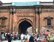 لاہور: تاریخی دیلی گیٹ کا خوبصورت منظر۔