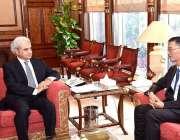 اسلام آباد: نگران وزیراعظم جسٹس (ر) ناصر الملک سے چینی سفیر ژاؤ جنگ ملاقات ..