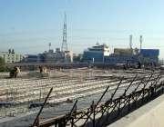 اسلام آباد: کھنہ پل انٹر چینج کے تعمیراتی کام کا منظر۔