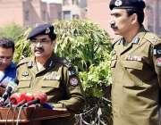 لاہور: آ:ی جی پنجاب کیپٹن (ر) عارف نواز خان پولیس لائنز میں رائے ونڈ دھماکے ..
