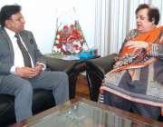 اسلام آباد: وفاقی وزیر برائے انسانی حقوق ڈاکٹر شیریں مزاری سے صوبائی ..