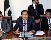 کراچی: سندھ زون کے ڈائریکٹر ایف آئی اے ڈاکٹر امیر احمد شیخ پریس کانفرنس ..
