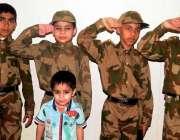 راولپنڈی: مقامی سکول کی سالانہ تقریب تقسیم انعامات کے موقع پر بچے ٹیبلو ..