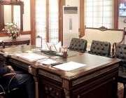لاہور: نگران وزیراعلیٰ پنجاب ڈاکٹر حسن عسکری ویڈیو لنک کے ذریعے سول ..
