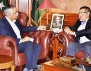 کراچی: گورنر سندھ محمد زبیر گورنر ہاؤس میں مٹسوبیشی کے سینئر نائب صدرMr.Kimidie ..