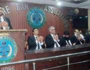 لاہور: لاہور بار ایسوسی ایشن کے جنرل ہاؤس مذمتی اجلاس میں کشمیری شہداء ..