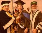 لاہور: صوبائی وزیر صحت ڈاکٹر یاسمین راشد ایوان اقبال میں امیر الدین ..