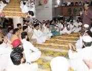 کراچی: پاکستان تحریک انصاف پی ایس99کے امیدوار حلیم عادل شیخ کارنر میٹنگ ..