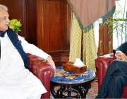 پشاور: گورنر خیبر پختونخوا انجینئر اقبال ظفر جھگڑا سے نگران وزیراعلیٰ ..
