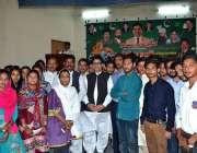 سرگودھا: وزیر مملکت برائے انسانی حقوق خلیل طاہر سندھ کا سٹوڈنٹس میں ..