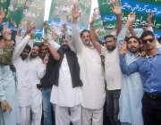 لاہور: شاہدرہ کے رہائشی اپنے مطالبات کے حق میں احتجاج کر رہے ہیں۔