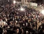 لاہور: عاشورہ محرم کا مرکزی جلوس اپنے رواتی راستے پر گامزن ہے۔
