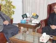 مظفر آباد: صدر آزاد کشمیر سردار مسعود خان سے وزیر خزانہ و صحت ڈاکٹر ..