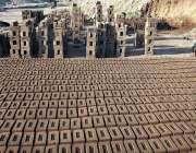 راولپنڈی: بھٹہ مزدور اینٹیں بنانے میں مصروف ہے۔