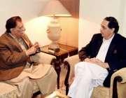 اسلام آباد: وزیر اعظم آزاد کشمیر راجہ فاروق حیدر خان سے وزیر اعظم کے ..