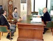 اسلام آباد: صدر مملکت ڈاکٹر عارف علوی سے وزیر مملکت کمیونیکیشن مراد ..
