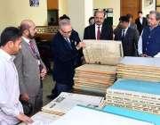 اسلام آباد: صدر مملکت ڈاکٹر عارف علوی نیشنل لائبریری اسلام آباد کا ..