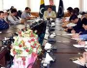 مظفر آباد: وزیراعظم آزاد کشمیر راجہ فاروق حیدد خان میڈیا سے گفتگو کر ..