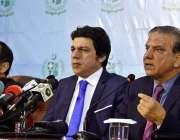 اسلام آباد: وفاقی وزیر آبی وسائل محمد فیصل واوڈا اور چیئرمین واپڈا ..