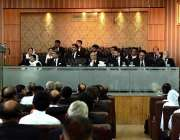 راولپنڈی:نگران وفاقی وزیر سید علی ظفرلاہور ہائیکورٹ بینج سے خطاب کر ..