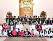 اسلام آباد: مسز ثمینہ علوی کا ایوان صدر میں منعقدہ محفل میلاد کے موقع ..