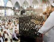 لاہور: صوبائی وزیر اوقاف سید سعیدالحسن داتا دربار کی مسجد میں منعقدہ ..