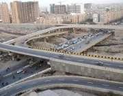 کراچی: ایکسپریس وے کا دلکش منظر۔